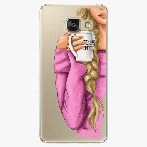 Silikonové pouzdro iSaprio - My Coffe and Blond Girl na mobil Samsung Galaxy A5 2016