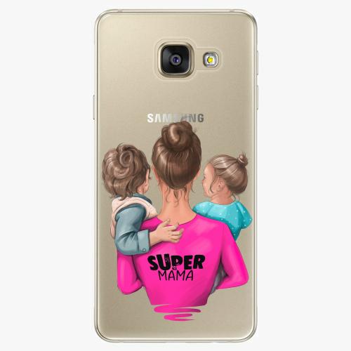 Silikonové pouzdro iSaprio - Super Mama na mobil Boy and Girl na mobil Samsung Galaxy A5 2016