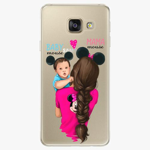 Silikonové pouzdro iSaprio - Mama Mouse Brunette and Boy na mobil Samsung Galaxy A5 2016