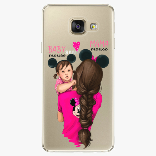 Silikonové pouzdro iSaprio - Mama Mouse Brunette and Girl na mobil Samsung Galaxy A5 2016