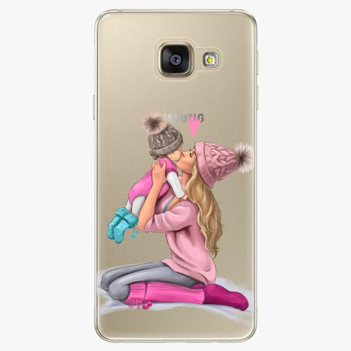 Silikonové pouzdro iSaprio - Kissing Mom / Blond and Girl na mobil Samsung Galaxy A5 2016