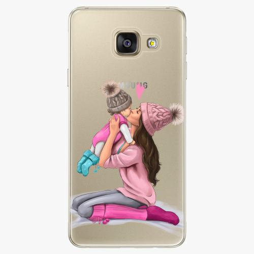 Silikonové pouzdro iSaprio - Kissing Mom / Brunette and Girl na mobil Samsung Galaxy A5 2016