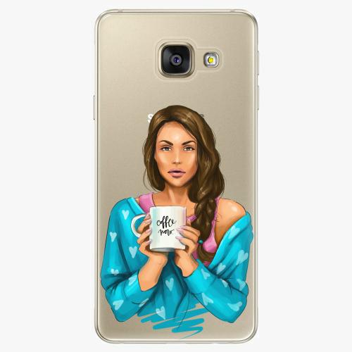 Silikonové pouzdro iSaprio - Coffe Now / Brunette na mobil Samsung Galaxy A5 2016