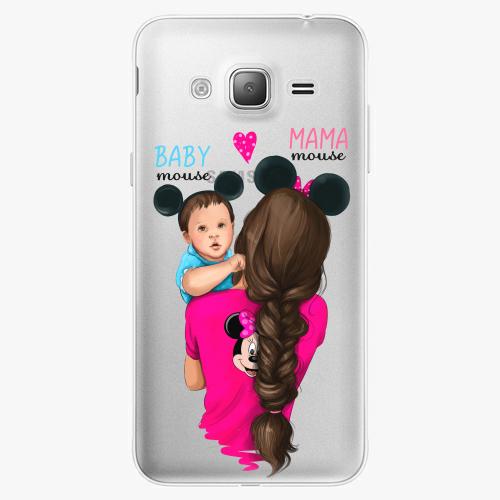 Silikonové pouzdro iSaprio - Mama Mouse Brunette and Boy na mobil Samsung Galaxy J3 2016