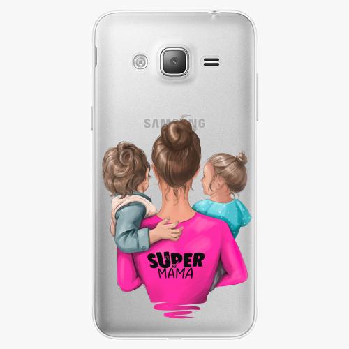 Silikonové pouzdro iSaprio - Super Mama na mobil Boy and Girl na mobil Samsung Galaxy J3 2016