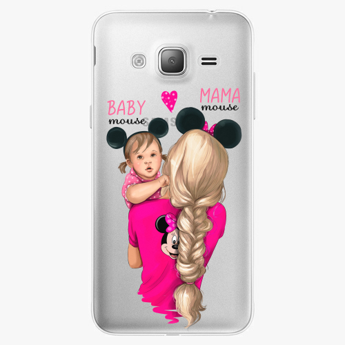 Silikonové pouzdro iSaprio - Mama Mouse Blond and Girl na mobil Samsung Galaxy J3 2016