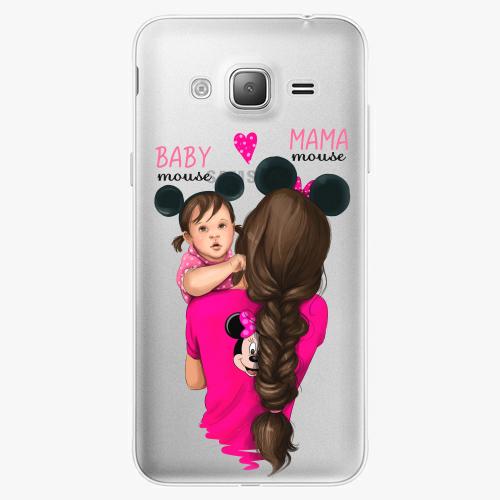 Silikonové pouzdro iSaprio - Mama Mouse Brunette and Girl na mobil Samsung Galaxy J3 2016