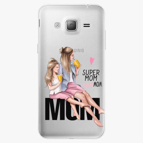 Silikonové pouzdro iSaprio - Milk Shake / Blond na mobil Samsung Galaxy J3 2016