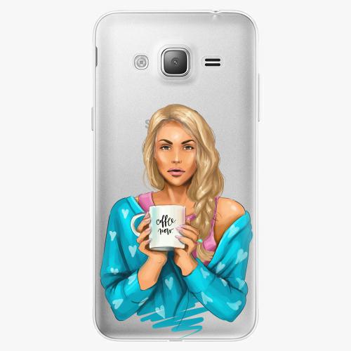 Silikonové pouzdro iSaprio - Coffe Now / Blond na mobil Samsung Galaxy J3 2016