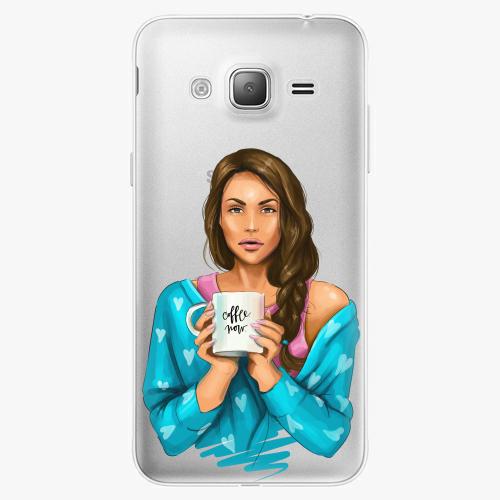 Silikonové pouzdro iSaprio - Coffe Now / Brunette na mobil Samsung Galaxy J3 2016