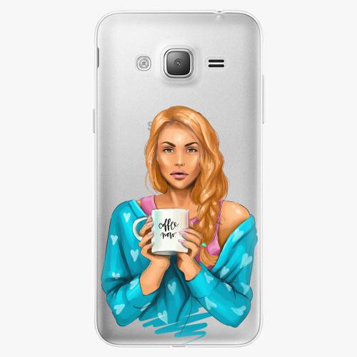 Silikonové pouzdro iSaprio - Coffe Now / Redhead na mobil Samsung Galaxy J3 2016