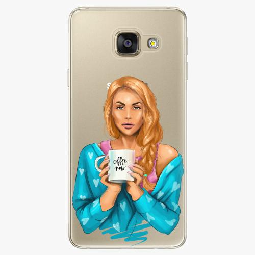 Silikonové pouzdro iSaprio - Coffe Now / Redhead na mobil Samsung Galaxy A5 2016