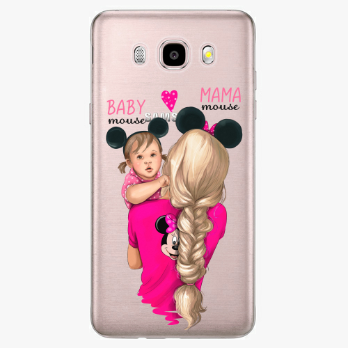 Silikonové pouzdro iSaprio - Mama Mouse Blond and Girl na mobil Samsung Galaxy J5 2016