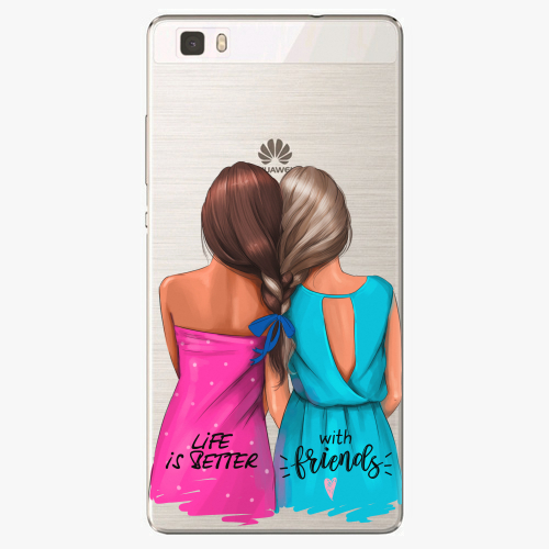 Silikonové pouzdro iSaprio - Best Friends na mobil Huawei P8 Lite