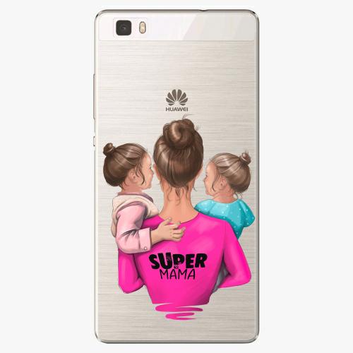 Silikonové pouzdro iSaprio - Super Mama na mobil Two Girls na mobil Huawei P8 Lite