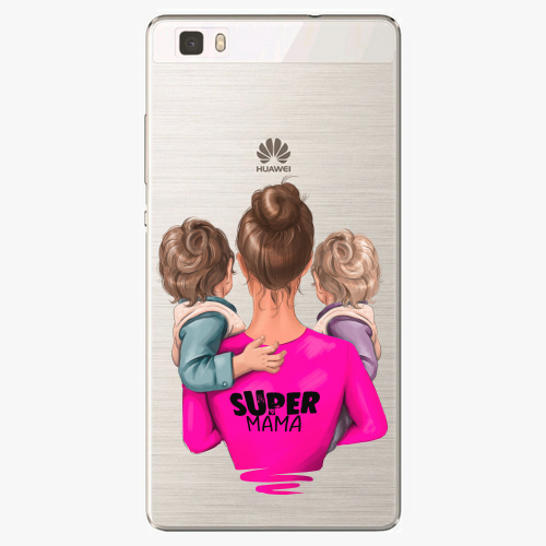 Silikonové pouzdro iSaprio - Super Mama na mobil Two Boys na mobil Huawei P8 Lite
