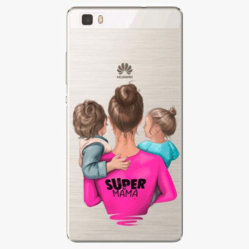 Silikonové pouzdro iSaprio - Super Mama na mobil Boy and Girl na mobil Huawei P8 Lite