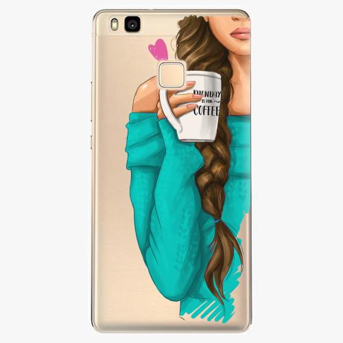 Silikonové pouzdro iSaprio - My Coffe and Brunette Girl na mobil Huawei P9 Lite