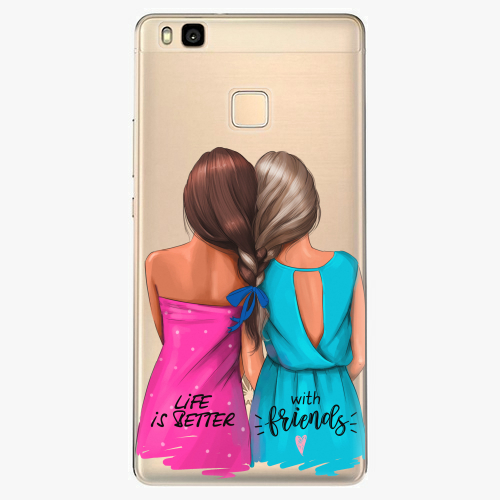 Silikonové pouzdro iSaprio - Best Friends na mobil Huawei P9 Lite