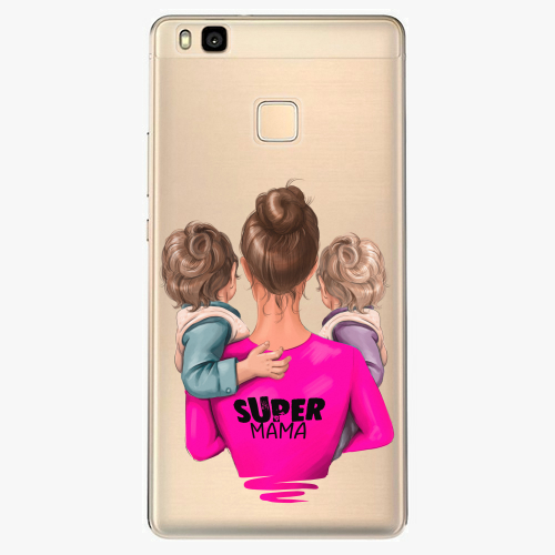 Silikonové pouzdro iSaprio - Super Mama na mobil Two Boys na mobil Huawei P9 Lite