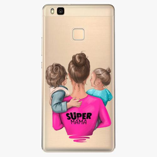 Silikonové pouzdro iSaprio - Super Mama na mobil Boy and Girl na mobil Huawei P9 Lite