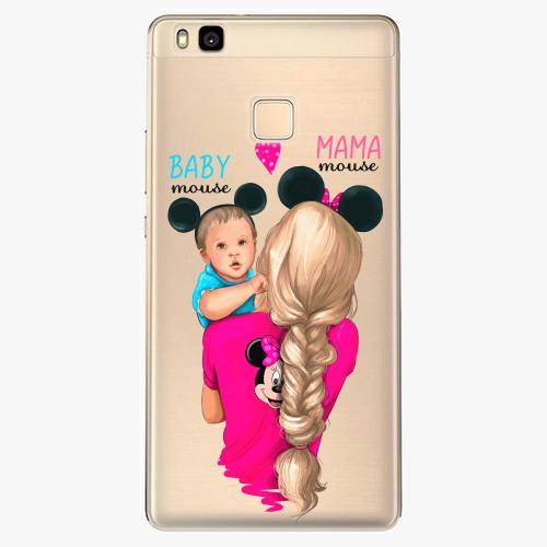 Silikonové pouzdro iSaprio - Mama Mouse Blonde and Boy na mobil Huawei P9 Lite