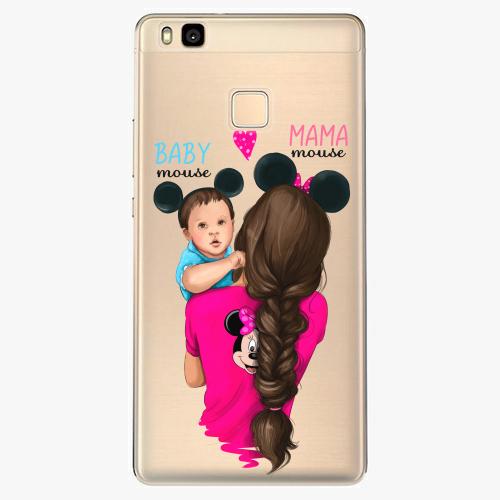 Silikonové pouzdro iSaprio - Mama Mouse Brunette and Boy na mobil Huawei P9 Lite