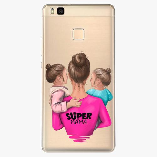 Silikonové pouzdro iSaprio - Super Mama na mobil Two Girls na mobil Huawei P9 Lite