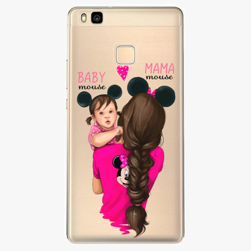 Silikonové pouzdro iSaprio - Mama Mouse Brunette and Girl na mobil Huawei P9 Lite