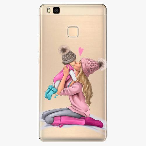 Silikonové pouzdro iSaprio - Kissing Mom / Blond and Girl na mobil Huawei P9 Lite
