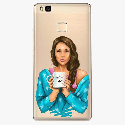 Silikonové pouzdro iSaprio - Coffe Now / Brunette na mobil Huawei P9 Lite