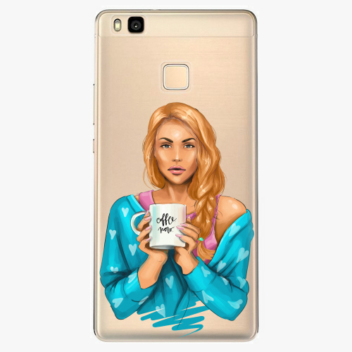 Silikonové pouzdro iSaprio - Coffe Now / Redhead na mobil Huawei P9 Lite