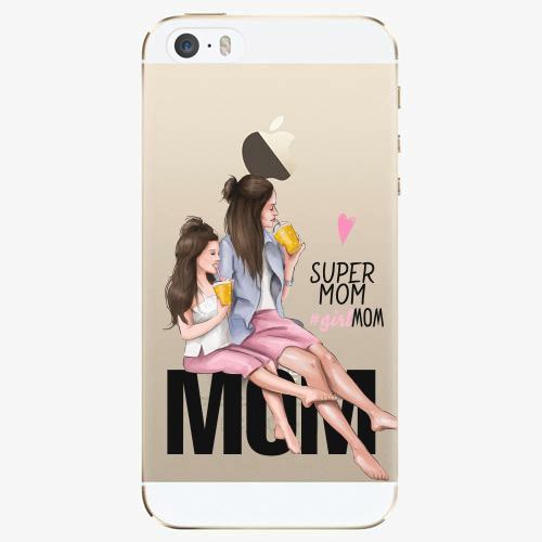 Silikonové pouzdro iSaprio - Milk Shake / Brunette na mobil Apple iPhone 5/ 5S/ SE