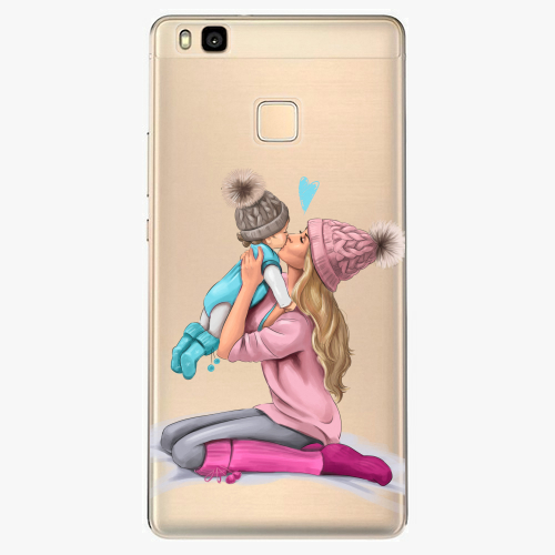 Silikonové pouzdro iSaprio - Kissing Mom / Blond and Boy na mobil Huawei P9 Lite