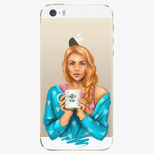 Silikonové pouzdro iSaprio - Coffe Now / Redhead na mobil Apple iPhone 5/ 5S/ SE