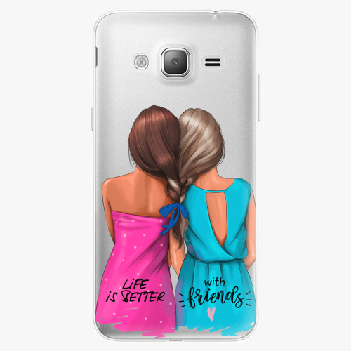 Silikonové pouzdro iSaprio - Best Friends na mobil Samsung Galaxy J3 2016