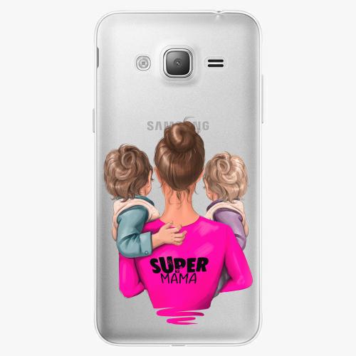 Silikonové pouzdro iSaprio - Super Mama na mobil Two Boys na mobil Samsung Galaxy J3 2016