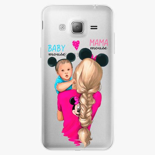 Silikonové pouzdro iSaprio - Mama Mouse Blonde and Boy na mobil Samsung Galaxy J3 2016