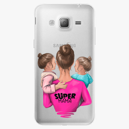 Silikonové pouzdro iSaprio - Super Mama na mobil Two Girls na mobil Samsung Galaxy J3 2016