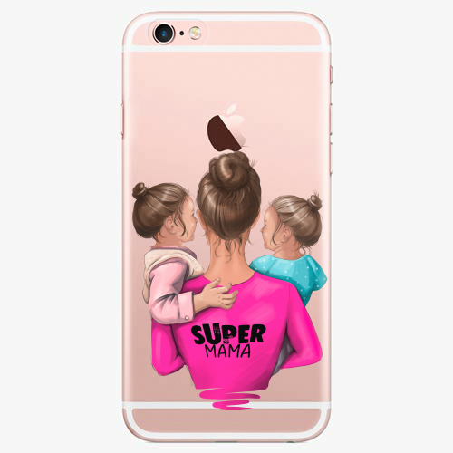 Silikonové pouzdro iSaprio - Super Mama na mobil Two Girls na mobil Apple iPhone 7 - rozbaleno
