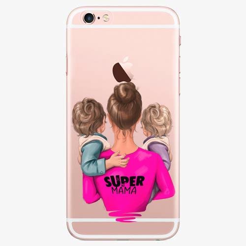 Silikonové pouzdro iSaprio - Super Mama na mobil Two Boys na mobil Apple iPhone 7