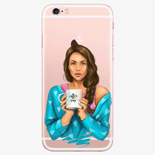Silikonové pouzdro iSaprio - Coffe Now / Brunette na mobil Apple iPhone 7
