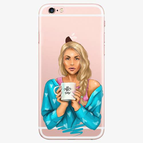Silikonové pouzdro iSaprio - Coffe Now / Blond na mobil Apple iPhone 7