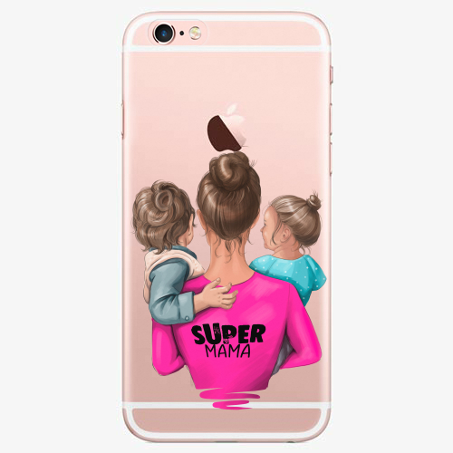 Silikonové pouzdro iSaprio - Super Mama na mobil Boy and Girl na mobil Apple iPhone 7 Plus