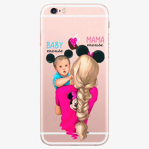 Silikonové pouzdro iSaprio - Mama Mouse Blonde and Boy na mobil Apple iPhone 7 Plus