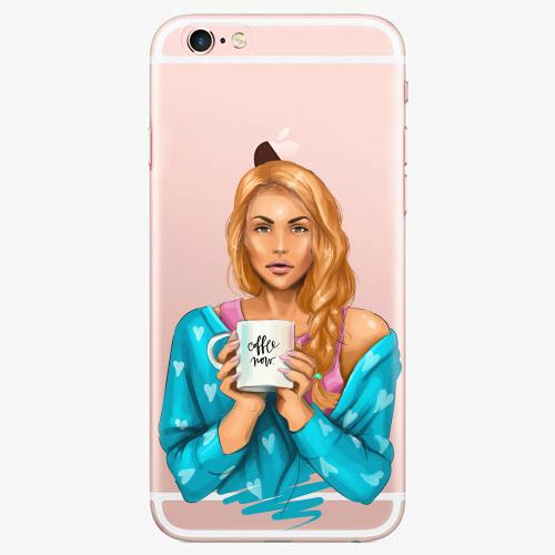 Silikonové pouzdro iSaprio - Coffe Now / Redhead na mobil Apple iPhone 7 Plus