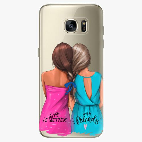 Silikonové pouzdro iSaprio - Best Friends na mobil Samsung Galaxy S7 Edge