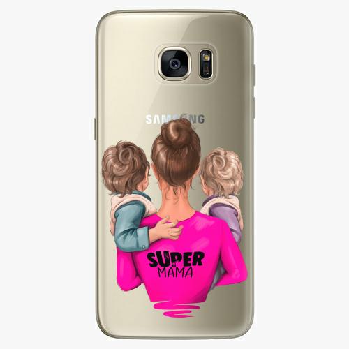Silikonové pouzdro iSaprio - Super Mama na mobil Two Boys na mobil Samsung Galaxy S7 Edge