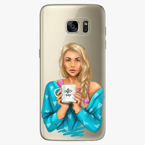Silikonové pouzdro iSaprio - Coffe Now / Blond na mobil Samsung Galaxy S7 Edge