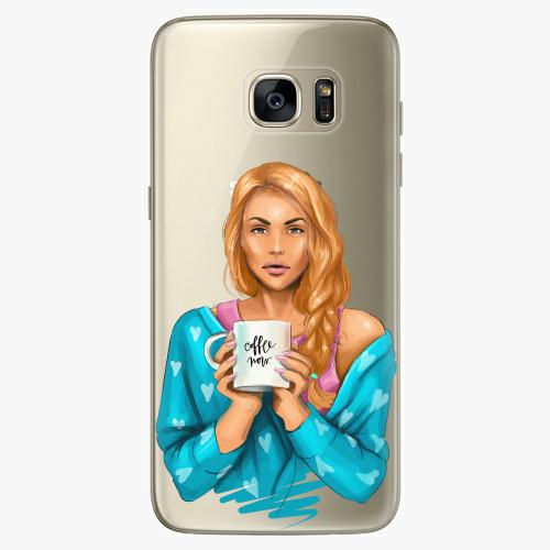 Silikonové pouzdro iSaprio - Coffe Now / Redhead na mobil Samsung Galaxy S7 Edge